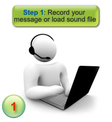 How voice message delivery works - step 1 - record your message