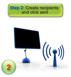 How voice message delivery works - step 2 - enter recipients and click send