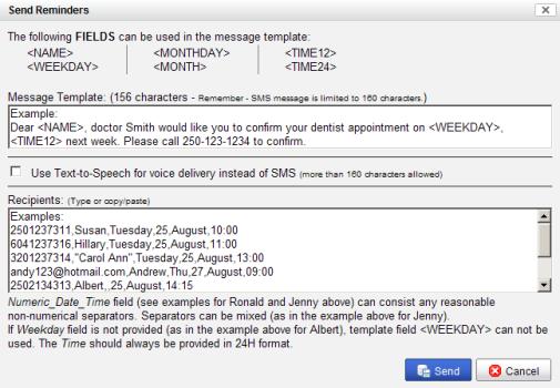 voice message templates
